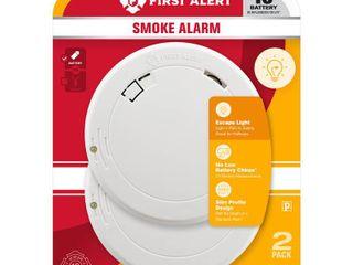 First Alert Battery Operated 3V Photoelectric Sensor Smoke Detector   2 Pack