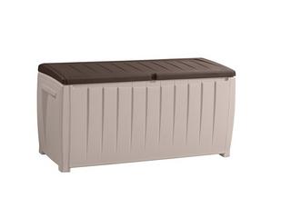 Outdoor Patio Storage Box Garden Rattan 2 Seater Bench Deck Plastic Chest