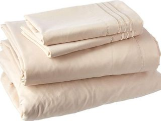 Clara Clark Premier 1800 Series Deep Pocket Bed Sheet Set   Split King