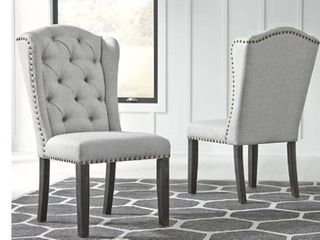 Jeanette Casual Dining Upholstered Side Chair  Set of 2  Retail 349 99