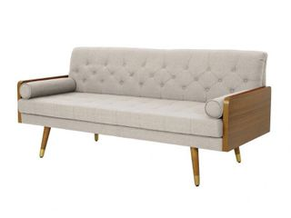 Jalon Tufted Fabric Sofa by Christopher Knight Home  Retail 536 57