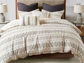 The Curated Nomad Natoma Cotton Jacquard 3 piece Full Queen Comforter Set  Retail 97 49
