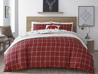 Eddie Bauer Corbett Plaid Red Twin Comforter Set  Retail 99 98