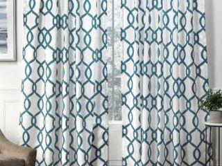 Carson Carrington Tennsatter linen Blend Hidden Tab Top Sheer Panel Pair