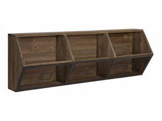Kate and laurel Burdock Wood and Metal Storage Wall Shelf   Retail 119 99