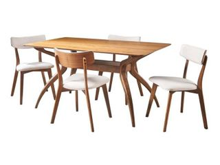 Nissie Mid Century Dining Table by Christopher Knight Home  Chairs Not Included  Retail 653 49