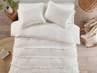 Madison Park Tracie Pom Pom Cotton Full Queen Comforter Set  Retail 109 98