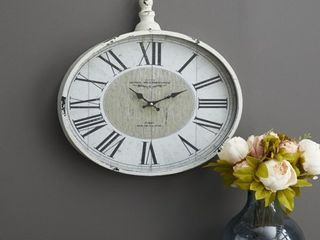 The Gray Barn Jartop Metal 16 inch x 18 inch Wall Clock  Slightly Damaged  See Pictures