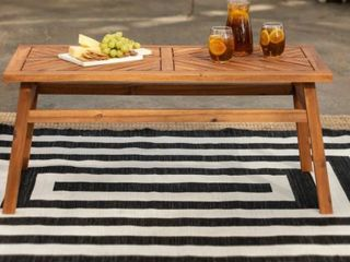 Elephant Point Chevron Chat Outdoor Table by Havenside Home