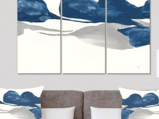 Designart  Gouache Sapphire on Gray II  Modern   Transitional Gallery wrapped Canvas  Retail 92 99