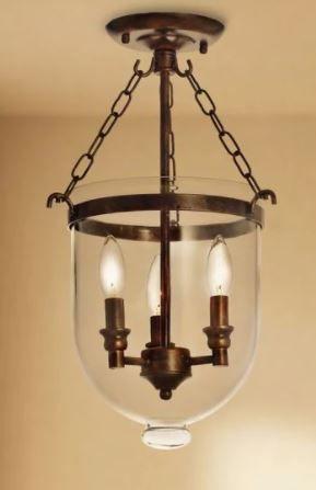 Copper Grove Antique Copper Glass lantern Flush Mount Chandelier   N A  Retail 113 99