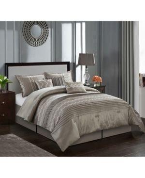 Fleur 7 Piece Comforter Set Queen  Retail 113 98