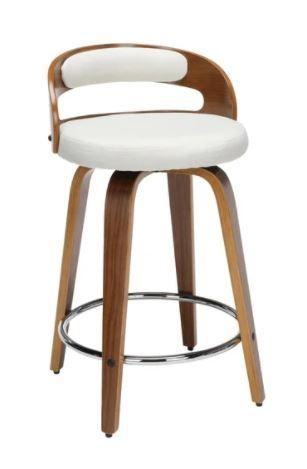 Carson Carrington Uggelhult Bentwood Frame Swivel Seat Stool  Retail 142 99