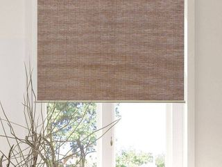 Chicology Privacy  amp  Natural Woven Snap N Glide Cordless Roller Shades  Felton Truffle  Set Of 5