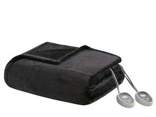 Beautyrest Heated Plush Secure Comfort Blanket  Retail 87 65