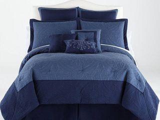 4pc Bensonhurst Full Comforter Set Blue   Vue