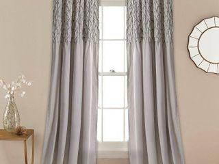 Bayview Window Curtain Panel Pair  Gray   lush Decor
