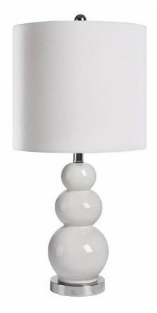 Camden Gourd White 20 inch Table lamp By Abbyson  Retail 112 99