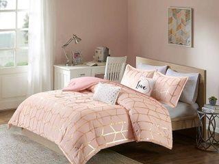 Intelligent Design Khloe 5 piece Metallic Printed Full Queen Comforter Set  Retail 78 44