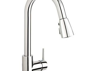 Belanger Pull Down Single Handle Kitchen Faucet  Polished Chrome  Retail 109 99