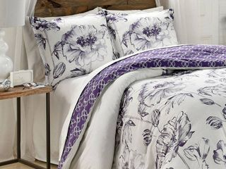 Marble Hill Jasmeen Reversible 3 Piece King Comforter Set  Retail 89 98