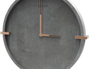 Clock Unek Goods NexTime Mohawk Wall Clock  Concrete  12 6  Diameter