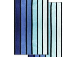 Superior 100 percent Cotton Faded Stripe Oversized Beach Towel  Set of 2