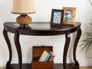 Copper Grove Geurts Espresso Wood and Glass Sofa Table  Retail 239 99