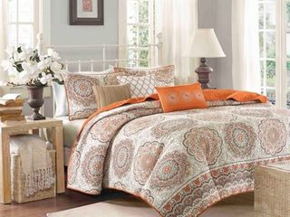 Madison Park Curtner 6 piece Quilted King Cal King Coverlet Set  Retail 102 20
