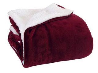 Elegant Comfort Reversible Sherpa Micro Suede 3 Piece Queen Comforter Set  Retail 76 48