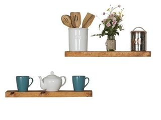 Del Hutson Designs True Floating Shelves 24   Set of 2