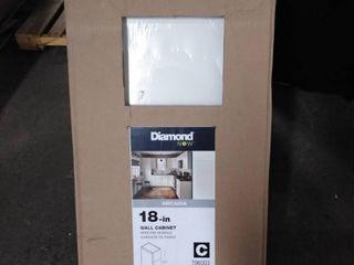 diamond now wall cabinet 18 inch arcadia