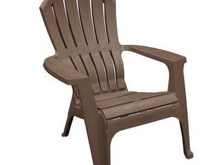Adams Adirondack Real Comfort Plastic Chair  Earth Brown