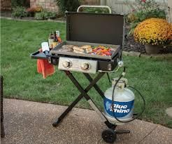 blue rhino razor portable 2 burner griddle