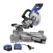 Kobalt 7 1 4 in 24 volt Max Dual Bevel Sliding Compound Cordless Miter Saw
