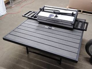 patio table with bench parts as is
