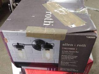 allen and roth 2 light vanity bar black
