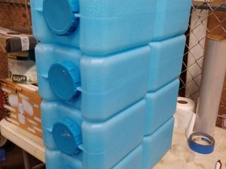 water cooler blue 4 pc