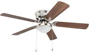 Harbor Breeze Armitage 52 in Bronze led Indoor Flush Mount Ceiling Fan With Kit globe broken or missing
