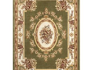 Well Woven Timeless le Petit Palais Traditional Medallion Floral Green 6 7  x 9 3  Area Rug