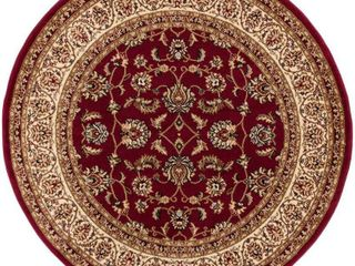 Well Woven Barclay Sarouk Traditional Oriental Red 5 3  Round Area Rug