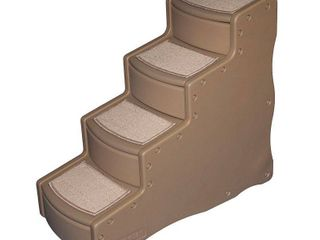 Pet Gear Easy Step IV Pet Stairs  4 step for cats and dogs up to 150 pounds  Tan