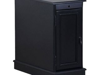 Felix Accent Table with USB Charging Station Black   Powell Company