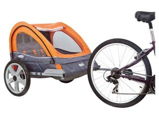 InSTEP Quick and Eazy Bicycle Trailer   Orange  Gray  Double