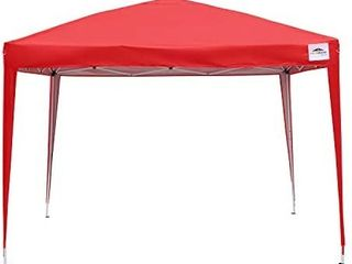leisurelife Waterproof 10 x10  Pop Up Canopy Tent with Sides   Outdoor Folding Commercial Gazebo Party Tent Red