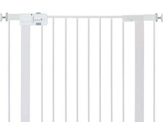 Regalo Easy Install Metal Baby Gate with Pressure Mount Fastening  White  Pack of 1