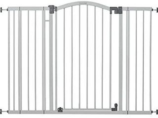 Summer Extra Tall   Wide Safety Baby Gate  Cool Gray Metal Frame a light
