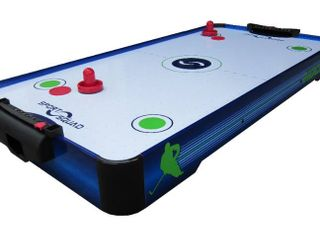 Sport Squad HX40 Electric Powered Arcade Air Hockey Conversion Top  3 3  Blue  2ct Pucks  2ct Strikers