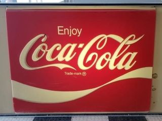 lighted Coca Cola Sign