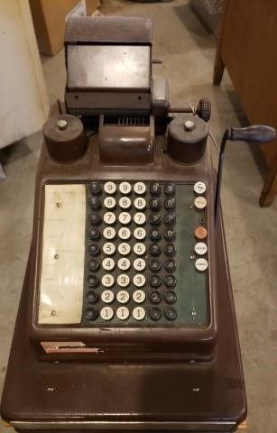 Burroughs Manual Cash Register w Keys
